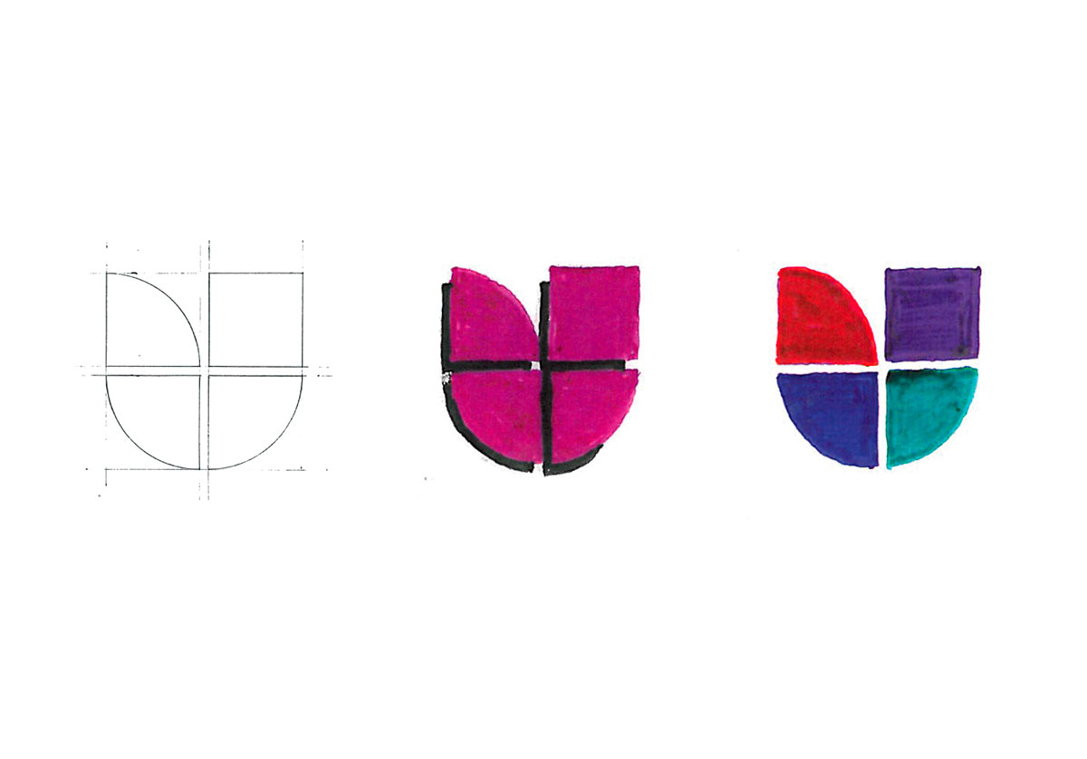 Univision logo sketch