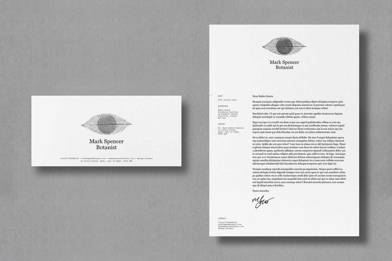 Mark Spencer forensic botanist letterhead