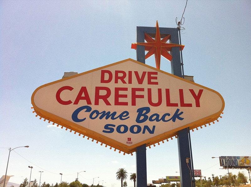 Las Vegas sign back